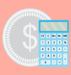 Count money calculator vector