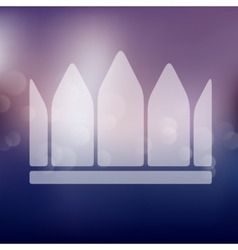 Crown icon on blurred background vector