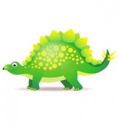 cute dino cartoon vector image vector image