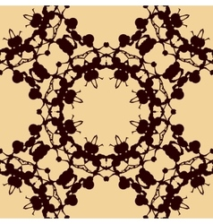 Design rorschach inkblot test brown on yellow vector