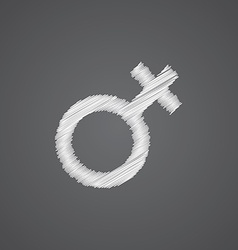 Female sketch logo doodle icon vector