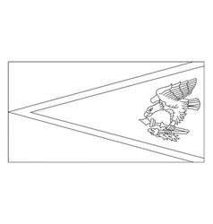 Flag of american samoa 2009 vintage vector