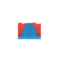 Flat icon niagara falls element vector