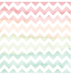 Hand Painted Watercolor Chevron Background vector image