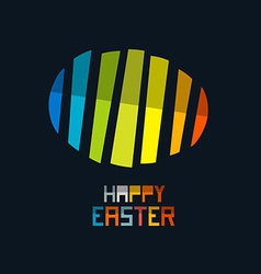 Happy Easter Colorful Abstract Egg Symbol on Dark vector image