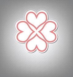 heart flower symbol design vector image