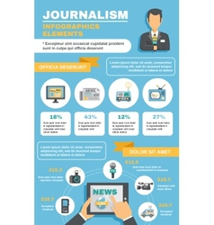 Journalist infographic elements vector