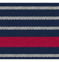 Marine Blue White Red Knitted vector image vector image