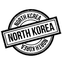 North korea rubber stamp vector