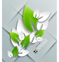 paper leaves modern design vector image vector image