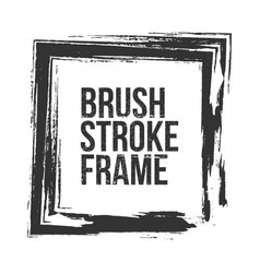 rectangle brush stroke grunge frame vector image