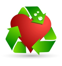 Save love symbol vector image vector image