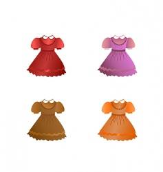 set of children dresses vector image vector image