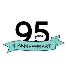 Template Logo 95 Years Anniversary vector image vector image
