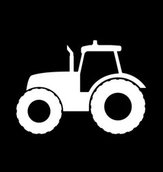 Tractor silhouette on a white background vector