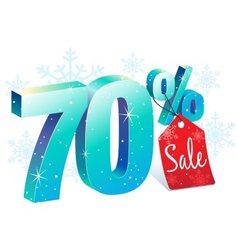 Winter Sale 70 Percent Off vector image vector image