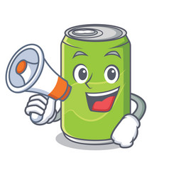 with megaphone soft drink character cartoon vector image vector image