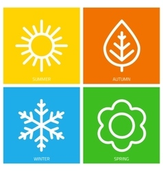 Icons of seasons vector