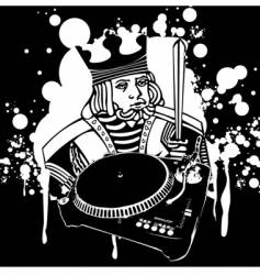 king Dj graffiti vector image