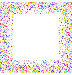 confetti border vector image