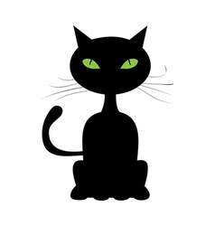Abstract black cat vector
