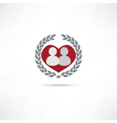 Loved one icon vector