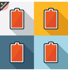 Battery fully charged sign icon electricity vector