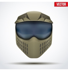 Khaki paintball mask with goggles original design vector