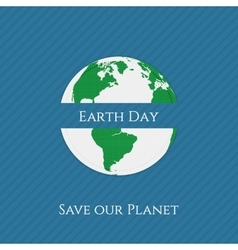 Earth day textile realistic banner template vector
