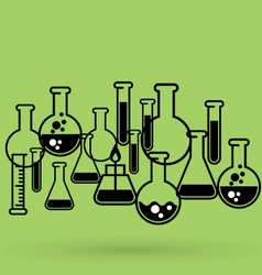 Chemical laboratory background with test tubes vector