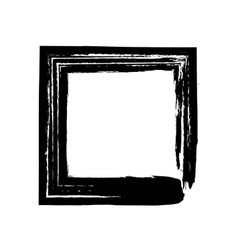 Square frame brush grunge paint watercolour vector