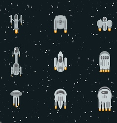 Flat space ships vector