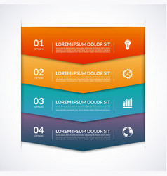 Infographic template with 4 arrows options parts vector