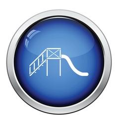 Childrens slide icon vector