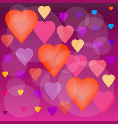 background of the air hearts vector image