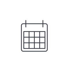 Calendar thin line icon linear symbol vector