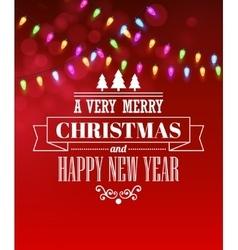 Christmas light tipography poster vector