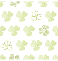 Clover textile textured geometric seamless pattern vector