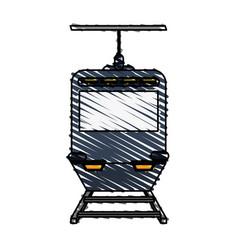 color crayon stripe image funicular cable railway vector image vector image