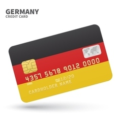 Credit card with germany flag background for bank vector