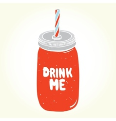 Drink me jar isolated vector
