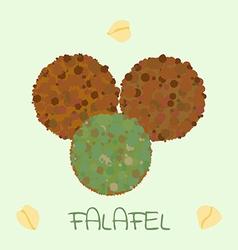 Falafel arabic food vector