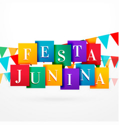 festa junina holiday background with colorful vector image vector image