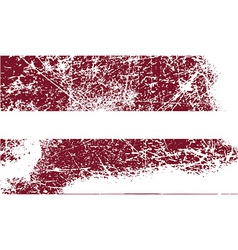 Flag of Latvia with old texture vector image