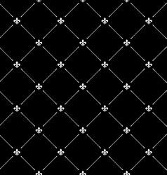 Fleur de lis black dark seamless pattern vector image vector image