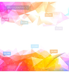 Geometric low poly background vector
