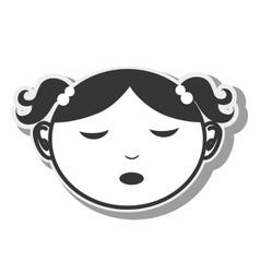 girl cartoon childhood design vector image
