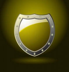 gold shield blank vector image vector image