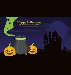 halloween background flat design vector image