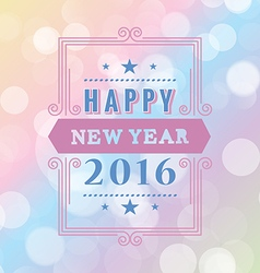 Happy new year typographic design white background vector image vector image